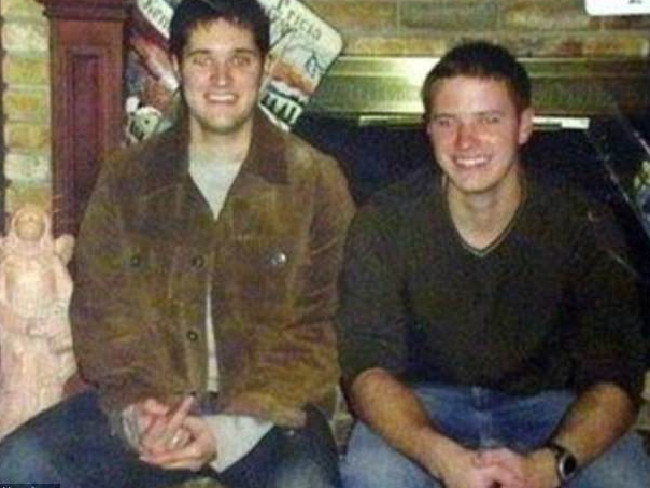 Thomas Whitaker, left, set up the ambush that had his brother, Kevin, killed. Picture: Supplied