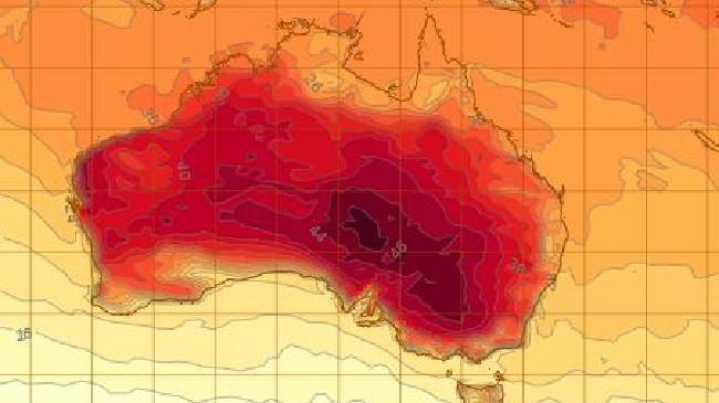The heat is still on. Picture: Bureau of Meteorology