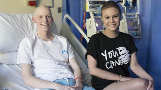 Nicolas McKenzie and Zoie Moore met while he was receiving having treatment. Picture: Darren Leigh Roberts