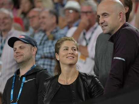 Federer's wife Mirka enjoyed her husband's observations.