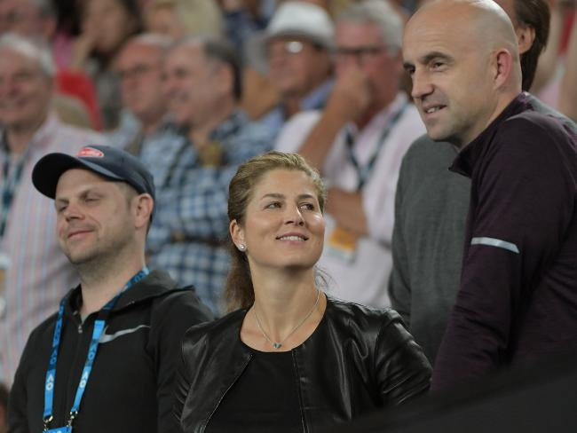 Federer's wife Mirka enjoyed her husband's observations.