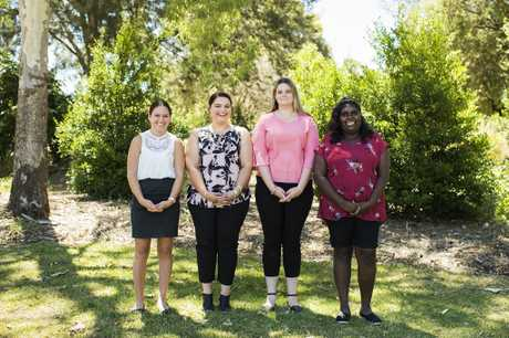 THE FUTURE: Chloe Short, Mikaela Boase, Maddison Pashley and Hazel Douglas are doing an Indigenous Traineeship through USQ in 2018.