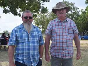 Paul Ashton and Ken Lloyd at the Chinchilla Markets