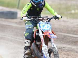 Hervey Bay Motocross practice day - Ace Powell in the