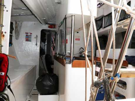Below decks including view of the galley on board PSP Logistics.