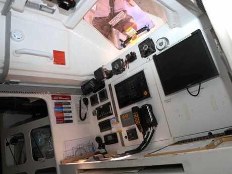 The navigation room onboard PSP Logistics.