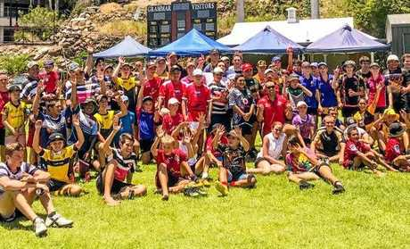 About 70 young players took part in the Bushrangers Pathways Program training session in Rockhampton at the weekend.