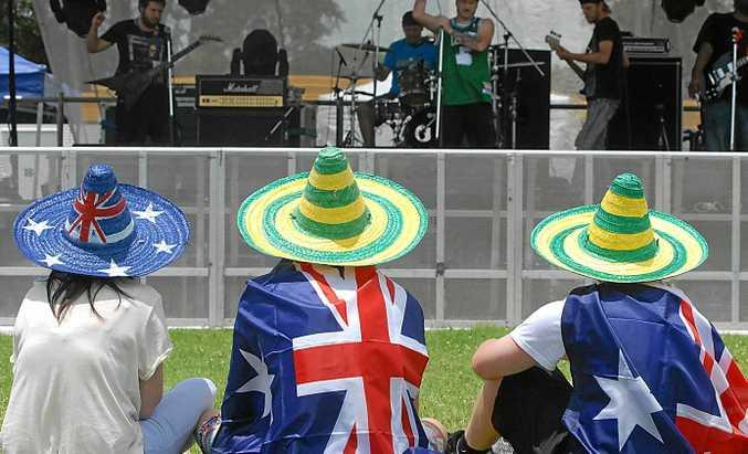 Australia day celebrations.