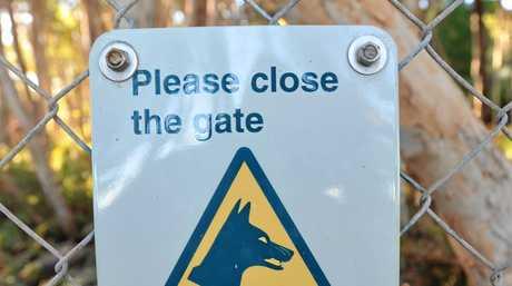 Fraser Island - dingo gate.  Photo: Alistair Brightman