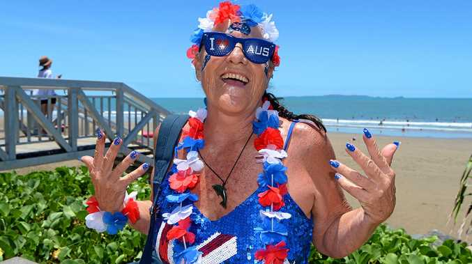 SPLIT: The community is split over the Australia Day date change as the national conversation continues. Pictured is Johanne Anderson at the Great Australia Day Beach Party in Yeppoon last year.