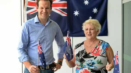 DIVIDED: Livingstone Shire mayor Bill Ludwig (bottom right) says there's a simple solution to the Australia Day debate as Senator Matt Cananvan and local member Michelle Landry (above) support Australia Day being celebrated on the current day.