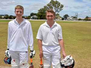TOP PARTNERSHIP: Mitchell Scheiwe and Will Ole after an unbroken 10th wicket partnership of 38 for Allora.