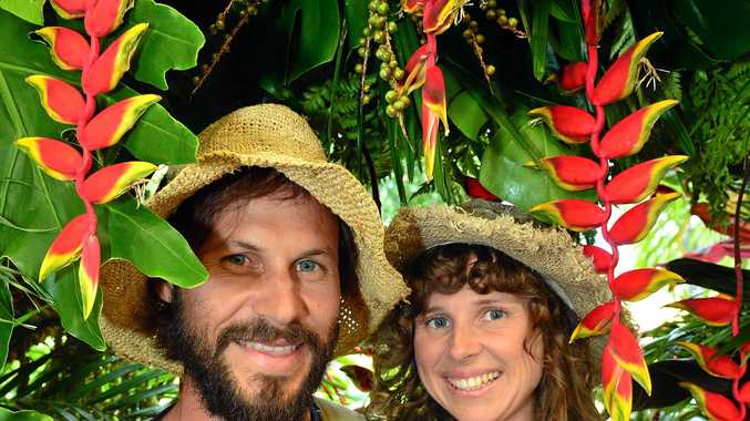 Reinier Hanekom and Fia Bradfield, of Coolum, at Yandina for the annual Ginger Flower and Food Festival.