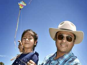 Sacred Indian festival of kites over city's skies