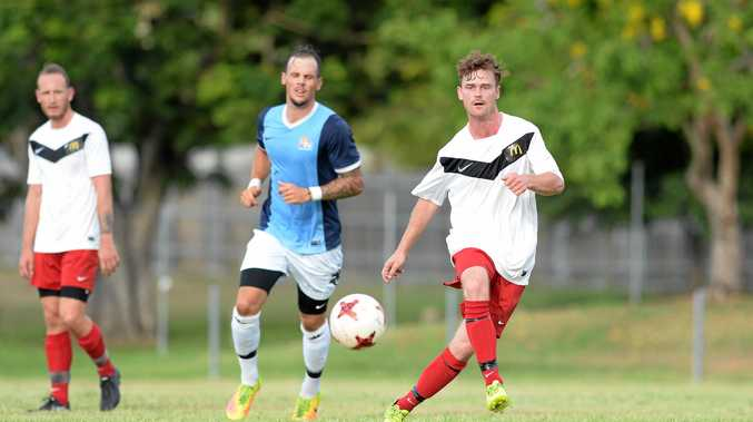 PASS: Wide Bay Buccaneers player John Cullen in the pre-season friendly game against The Mackay Crusaders at Jardine Park in Rockhampton.