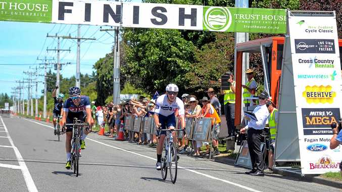 WIN: Brisbane Continental's Jordan Kerby wins stage five of the 2018 NZ Cycle Classic.