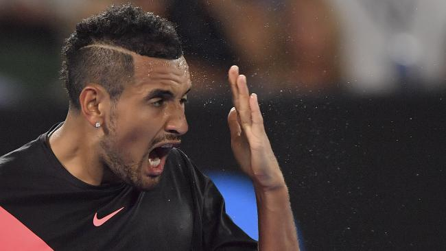 Nick Kyrgios has bowed out of the Australian Open in the fourth round.