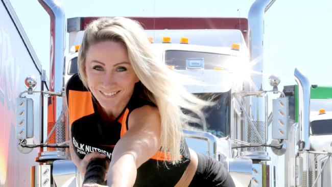 41-year-old mum Nardia Styles is attempting to break the world record to raise money for charity — she's pulling a 27-tonne truck with 15m rope.