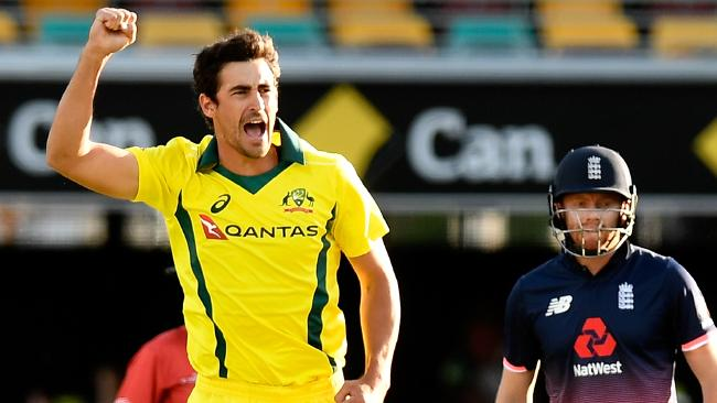 Mitchell Starc has vowed to lead the way for the Australians. Picture: Getty Images
