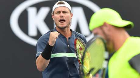 Lleyton Hewitt and Sam Groth spent just 22 minutes on court for their third round match.