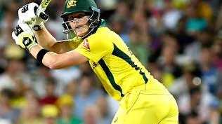 Steve Smith in action for Australia.