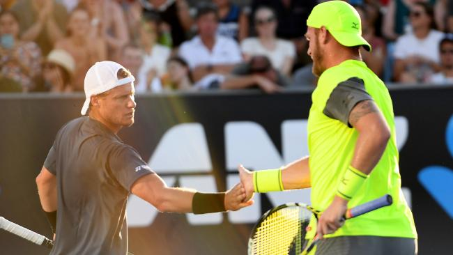 Lleyton Hewitt and Sam Groth are into the quarterfinals of the men's doubles.