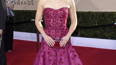Kristen Bell arrives at the 24th annual Screen Actors Guild Awards at the Shrine Auditorium & Expo Hall on Sunday, Jan. 21, 2018, in Los Angeles. (Photo by Richard Shotwell/Invision/AP)