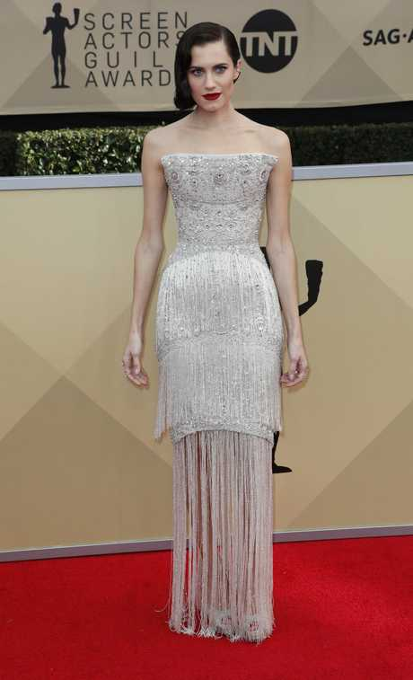 Allison Williams arrives for the 24th annual Screen Actors Guild Awards ceremony at the Shrine Exposition Center in Los Angeles, California, USA, 21 January 2018. The SAG Awards honors the best achievements in film and television performances. EPA/MIKE NELSON