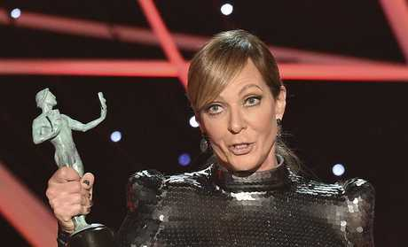 Allison Janney accepts the award for outstanding performance by a female actor in a supporting role for