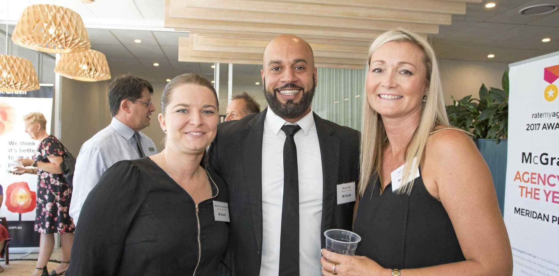 CHARITABLE BUSINESS: Natascha Drexel-Munro, Manjit Singh and Nicki Colam at the McGrath charity morning tea.