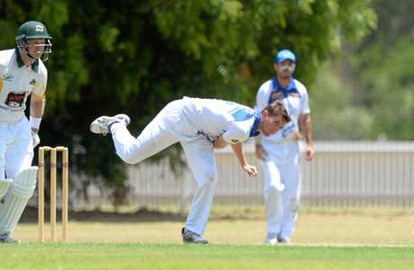 Capricorn Coast-Parkana bowler Lachlan Knuth in the game against Gracemere.
