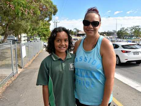 Krissa Croaker and Shakya Spicer, 9 hope the new traffic lights will put an end to the stressful school drop offs at Harvey Road.