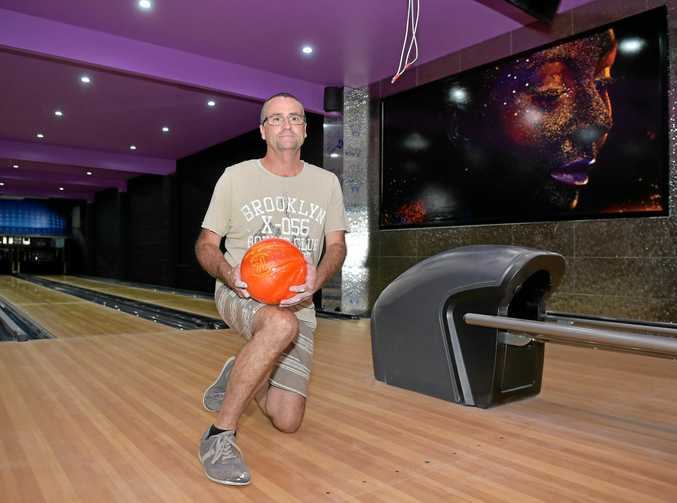 FINISHING TOUCHES: Spinners Bar and Bowl owner David Mullins prepares for the upcoming opening of his Maroochydore alley.