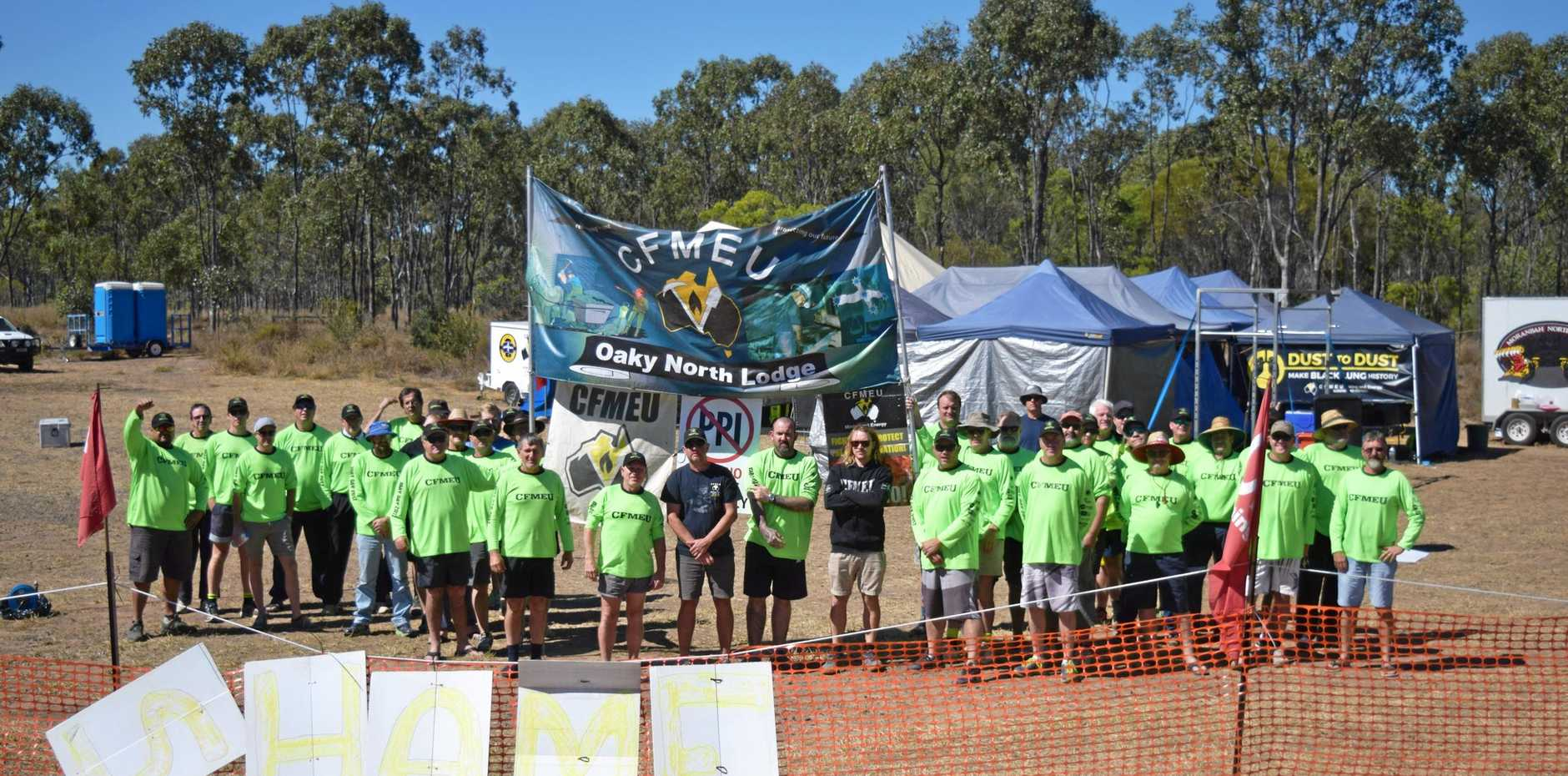 LOCKED OUT: The Oaky North miners have been locked out by mining giant Glencore for months while they negotiate their employment conditions for a new enterprise agreement.
