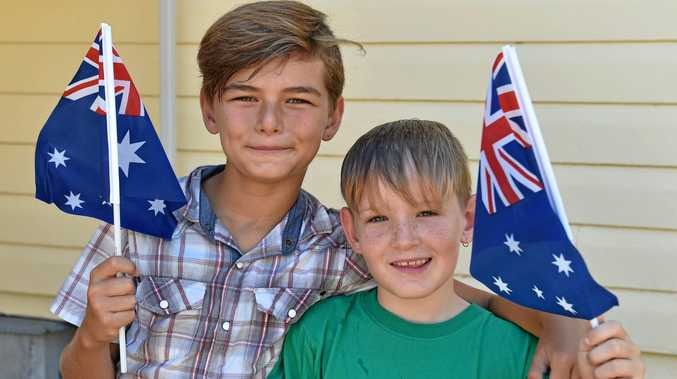 Australia Day at the Hervey Bay Historical Village and Museum - (L) Bryce Cosford and Curtis Deering from Hervey Bay.