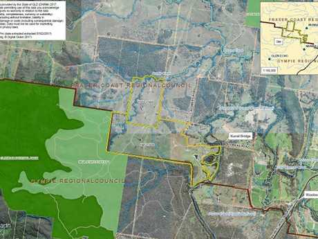 A proposed locality plan of the new 400.67ha Munna Creek Solar Farm, which was approved by the Fraser Coast Regional Council last week.