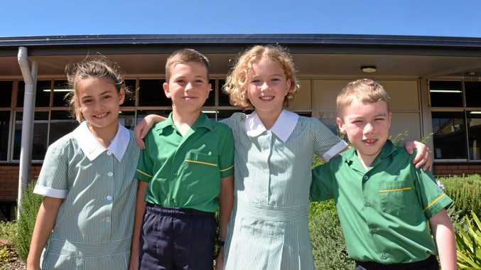 Starting at St Mary's upper campus yesterday were Olivia Groves, Thomas Albrand, Meghan Crothers and Patrick Sharp.
