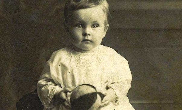 Margaret Caroline Trenaman was one year old when this photo was taken at the St Austell studio.