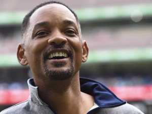 Actor Will Smith, pictured here at the MCG in Melbourne at the weekend, is currently holidaying at Lizard Island. PICTURE: AAP Image/Mal Fairclough