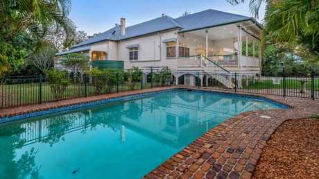 The pool at the home at 56 Victoria Ave, Chelmer.