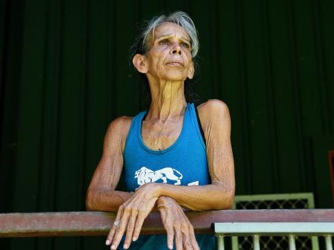 Sue Fitzgerald believes she saw UFOs at her Batchelor property. Picture: KERI MEGELUS