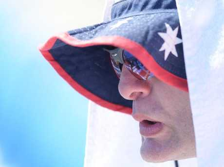 You might need a bigger hat and towel to beat the heat this week. Picture: Tracey Nearmy/AAP