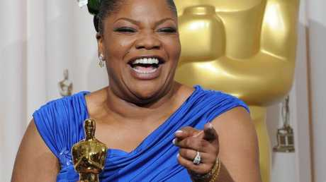 Mo'nique celebrates her Oscar for a Best Performance by an Actress in a Supporting Role for Prescious.
