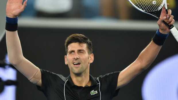 Novak is finally back on Rod Laver.