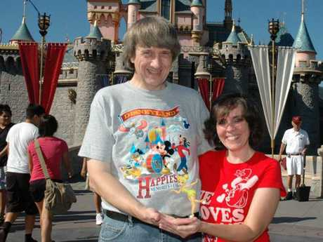 David Allen Turpin, 57, and Louise Anna Turpin, 49, at Disneyland. Picture: Supplied