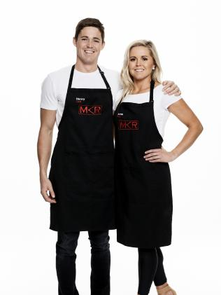Tasmanian My Kitchen Rules contestants Henry and Anna Terry.