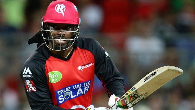 Chris Gayle reportedly wants another crack at the Big Bash. Picture: Gregg Porteous