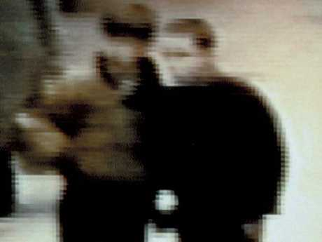 This blurry image was also released, showing Robert Thompson and Jon Venables in The Strand. Picture: Supplied