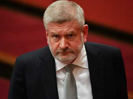 Federal Communications Mitch Fifield recently penned an opinion piece arguing that Australians did not want to pay for fast internet speeds. Picture: AAP/Mick Tsikas