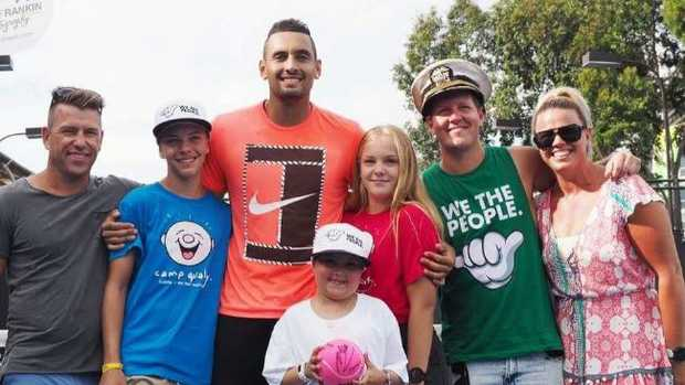Nick Kyrgios made nine-year-old cancer sufferer Bella's day.